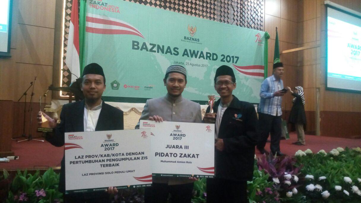 Solopeduli Terima Penghargaan di Ajang BAZNAS Award 2017