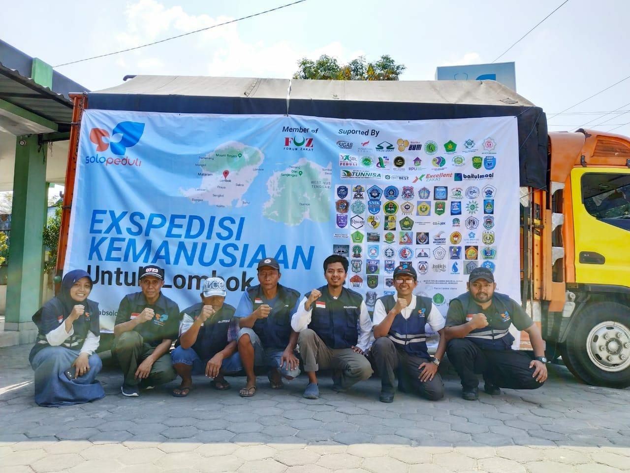 Kali Keempat, SOLOPEDULI Kirim Bantuan Kemanusiaan ke Lombok