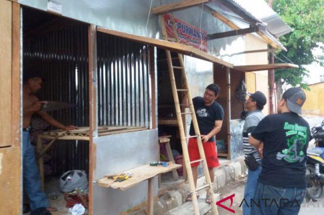 Pedagang Pasar Legi Solo Mulai Tempati Pasar Darurat