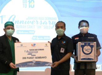 1Th Anniversary, RS JIH Solo Gandeng SOLOPEDULI Bagi Ratusan Paket Sembako